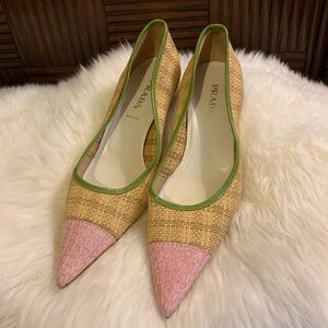 Prada Vintage Kitten Heels / Pumps